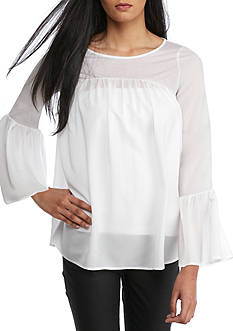 French Connection Polly Bell Ruffle Top
