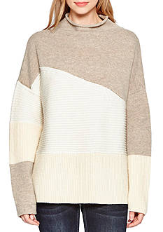French Connection Colorblocked Mock Neck Sweater