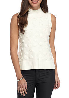 French Connection Loopy Polka Sleeveless Sweater