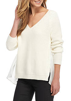 French Connection Mozart Hybrid Knit Sweater