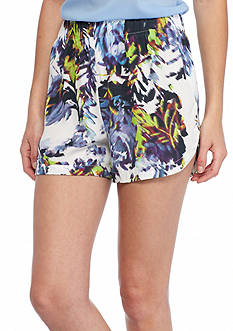 French Connection Kiki Palm Soft Shorts