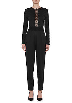 French Connection Petra Lace Trim Jumpsuit