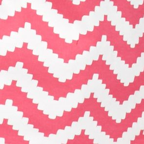 Kim Rogers Petites Sale: Pink Pop/White Kim Rogers Petite Chevron V-Neck Tee