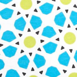Kim Rogers Petites Sale: Blue/Yummy Green Kim Rogers Petite Medallion Print Tee