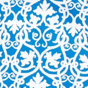 Kim Rogers Petites Sale: Blue / White Kim Rogers Petite Square Neck Maple Scroll Top