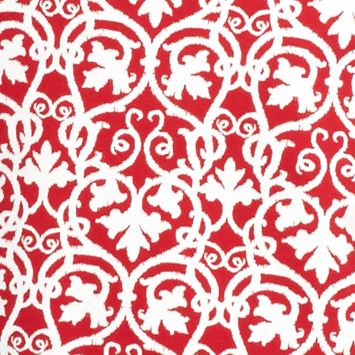 Kim Rogers Petites Sale: Red / White Kim Rogers Petite Square Neck Maple Scroll Top