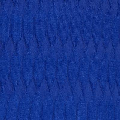 Kim Rogers Petites Sale: Delta Blue Kim Rogers Petite Oblong Jacquard Crewneck Sweater