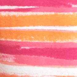 Petite Tops: Knit Tops: Pink/Orange Kim Rogers Petite Scenic Stripe Splice Top