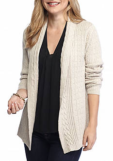 Kim Rogers Petite Open True Black Cardigan