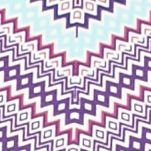 Kim Rogers Petite Clothing: Grape/Delta Kim Rogers Petite Three Quarter Sleeve Chevron Print Top