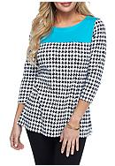 Kim Rogers® Houndstooth Tunic