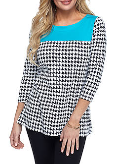 Kim Rogers Houndstooth Tunic