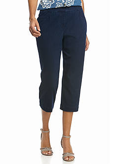 Kim Rogers Petite Knit Pull On Capri Pants