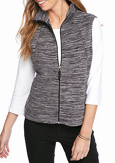 Kim Rogers Petite Polar Spacedye Fleece Vest