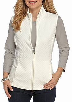 Kim Rogers Knit Diamond Quilted Vest
