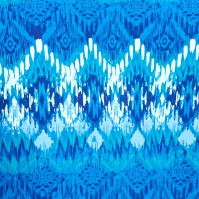 Petites: Gifts Under $25 Sale: Blue/Turq Kim Rogers Petite Three Quarter Sleeve V-neck Tribe Print Top