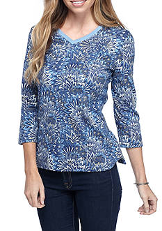 Kim Rogers Three Quarter V-Neck Shirt