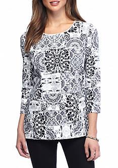Kim Rogers Petite Three Quarter Sleeve Shirt