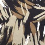 Petite Tops: Knit Tops: Khaki/Black Kim Rogers Petite Three-quarter Sleeve Animal Swirl Knit Top