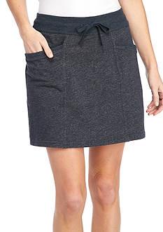 Kim Rogers Petite Solid Knit Drawstring Skort