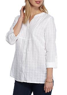 Kim Rogers Petite Size Bib Linen Top