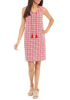 Kim Rogers Petite Size Sleeveless Tie Neckline Dress