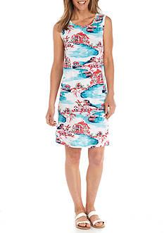 Kim Rogers Petite Size Sleeveless Swing Scenic Dress