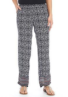 Kim Rogers Petite Parade Crinkle Pants