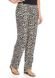 Kim Rogers Petite Animal Crinkle Pants