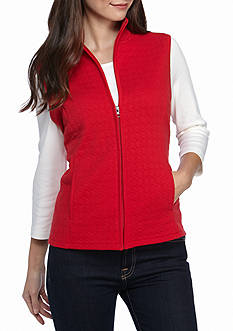 Kim Rogers Petite Knit Quilted Vest