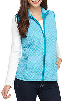 Kim Rogers® Quilted Knitted Vest