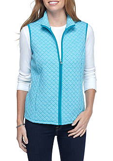 Kim Rogers Quilted Knitted Vest