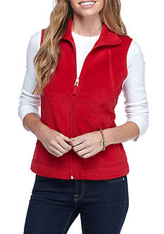 Kim Rogers Women's Petite Polar Fleece Vest