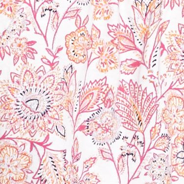 Kim Rogers Petites Sale: Pink Combo Kim Rogers Petite Floral Border Print Peasant Top