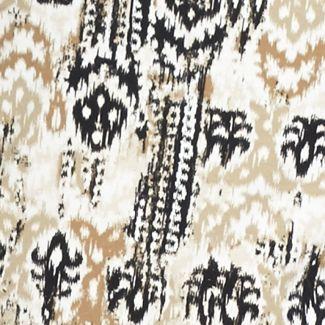 Kim Rogers Petites Sale: Khaki Combo Kim Rogers Petite Ikat Print Tee