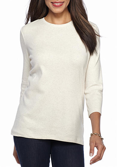 Kim Rogers® Ribbed Crew Knit Top