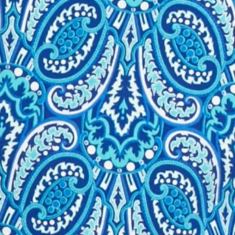 Kim Rogers Women Sale: Blue/Turqiouse Kim Rogers Square Neck Heritage Scroll