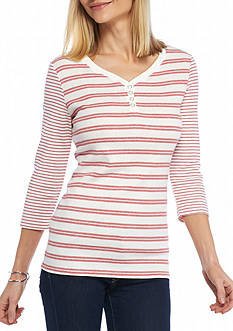 Kim Rogers Mix Stripe Knit Top
