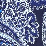 Kim Rogers Women Sale: Blue Combo Kim Rogers Bio Split Neck Paisley Print Top