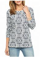 Kim Rogers® Long Sleeve Folk Knit Top