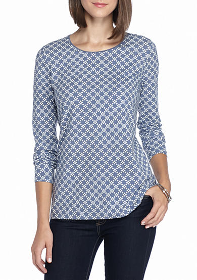 Kim Rogers® Long Sleeve Crew Neck Top