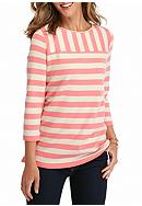 Kim Rogers® Colorblock Boatneck Knit Top