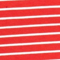 Tan/khaki Womens Tops: Red/White Kim Rogers Three Quarter Sleeve V-Neck Stripe Top