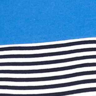 Kim Rogers Women Sale: Navy/White/Black Kim Rogers Three Quarter Sleeve Striped Shirt