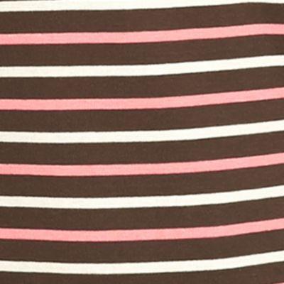 Kim Rogers Women Sale: Brown Kim Rogers 3/4 Ribbed Striped Top