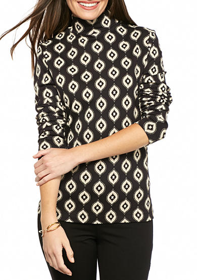 Kim Rogers® Long Sleeve Mock Neck Top