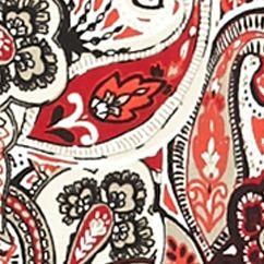 Women: Tees Sale: Black/Red/Khaki Kim Rogers Paisley Long Sleeve Shirt