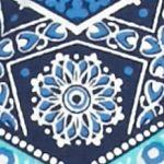 Kim Rogers Women Sale: Navy/Turquoise Kim Rogers Woodstock Chevron Top
