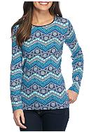 Kim Rogers® Woodstock Chevron Top