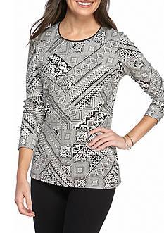 Kim Rogers Long Sleeve Tribal Shirt